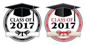 Kończący studia klasę 2017 - wektor Zdjęcia Stock