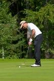 kończy golfisty jego huśtawka Fotografia Royalty Free