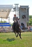Końscy jeźdzowie turniejowi Obraz Royalty Free