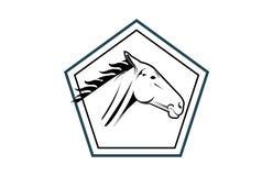 Końska głowa w wieloboka logu Obraz Royalty Free
