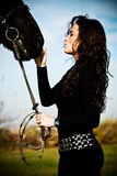 końska kobieta Obrazy Stock