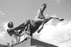 Końska poskromicielki rzeźba na Anichkov moscie Zdjęcie Stock