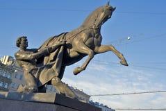 Końska poskromicielki rzeźba Peter Klodt Obrazy Royalty Free