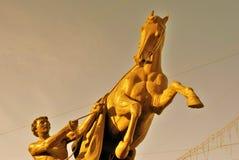 Końska poskromicielki rzeźba Peter Klodt Zdjęcie Stock