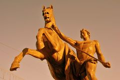 Końska poskromicielki rzeźba Peter Klodt Obraz Stock
