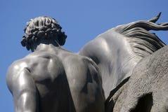 Końska poskromicielki rzeźba Peter Klodt Zdjęcia Royalty Free