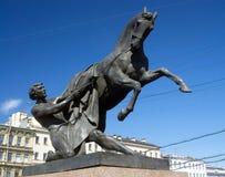 Końska poskromicielki rzeźba Peter Klodt Zdjęcia Stock