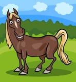 Końska zwierzęta gospodarskie kreskówki ilustracja Obrazy Royalty Free