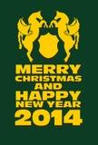Koński i Szczęśliwy nowy rok Obraz Royalty Free