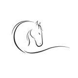 Koński logo obrazy stock