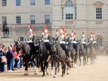 Końskich strażników parada, Zmienia królowej życia strażnika, Londyn, zdjęcie royalty free