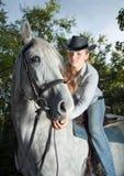końskiej damy jeździeccy potomstwa Fotografia Royalty Free