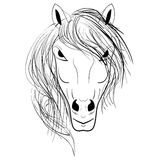 Końskiej głowy emblemat Obraz Royalty Free