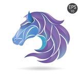 Końskiej głowy koloru loga emblemat symbol dla biznesu Zdjęcia Royalty Free