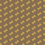 Kość dla psiej bezszwowej tekstury Zdjęcia Stock