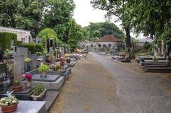 Kość kościół przy Kutna Hora - cmentarz Obrazy Stock