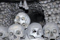 Kość kościół przy Kutna Hora - czaszki Zdjęcia Royalty Free