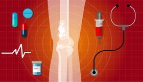 Kość nowotworu zdrowie lekarstwa anatomii opieki medycznej lekarstwo ilustracja wektor
