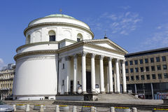 Kościół świątobliwy Aleksander przy Trzech Krzyzy kwadratem Zdjęcia Stock