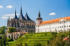 Kościół Świątobliwy Barbara w Kutna Hora, republika czech. UNESCO Fotografia Stock