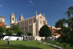 Kościół Świątobliwy Jerome Madryt Hiszpania zdjęcie royalty free