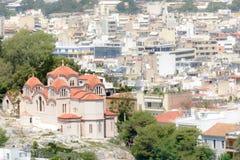 Kościół Świątobliwy Marina Agia Marina w Thissio, Ateny, Grecja Obraz Stock
