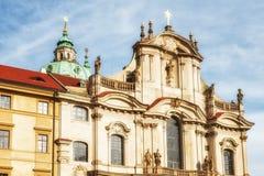 Kościół świątobliwy Nicholas Ja jest Barokowym kościół w Mala Strana Fotografia Stock
