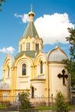 Kościół Święci apostołowie Peter i Paul Luban Leningrad region Rosja Fotografia Stock