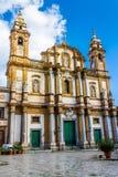 Kościół święty Dominic w Palermo, Włochy Obraz Royalty Free
