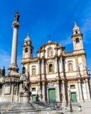 Kościół święty Dominic w Palermo, Włochy Zdjęcia Stock