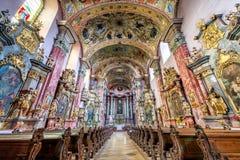 Kościół Święty duch i monaster Minorits w Levoca fotografia royalty free