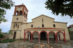 Kościół święty Eleftherios na Nowym Panteleimonas zdjęcia stock