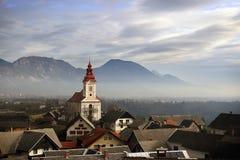 Kościół święty George, Slovenia Zdjęcia Royalty Free