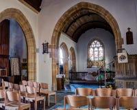 Kościół święty James Wielki Longburton Nave A Obrazy Stock