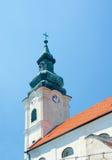 Kościół Święty krzyż, iglica. (kościół maryja dziewica) Devin, stanik Zdjęcie Royalty Free