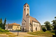 Kościół święty krzyż w Krizevci Obraz Stock