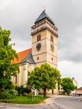 Kościół święty Lawrance w Dacice, republika czech Zdjęcia Royalty Free