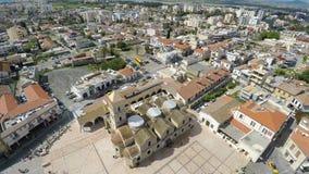 Kościół święty Lazarus w Larnaka, Cypr, widok z lotu ptaka Miejsca interes zbiory