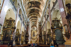 Kościół święty Ludmila w Praga Obraz Stock