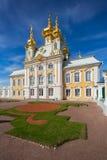 Kościół święty Peter i Paul w Uroczystym Peterhof pałac Fotografia Royalty Free
