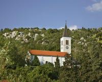 Kościół Święty serce Jezus w Student zgadzający się terenu teren kartografuje ważny ścieżki ulga cieniącego stan otaczający teryt Obraz Royalty Free