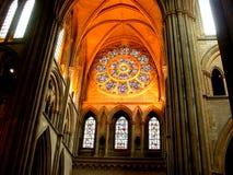kościół światła słonecznego przez okno Fotografia Royalty Free