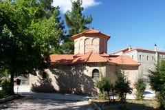 Kościół Agia Lavra przy Kalavryta wioską Zdjęcia Stock