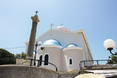 Kościół Agia Paraskevi Zdjęcia Royalty Free