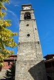 Kościół Agia Paraskevi wierza miasteczko Metsovo, Epirus Obraz Stock