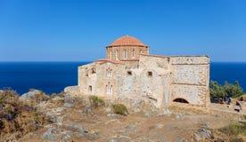 Kościół Agia Sofia w Monemvasia, Peloponnese, Grecja Obrazy Royalty Free