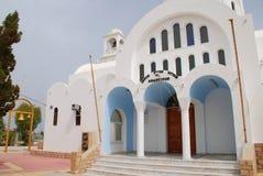 Kościół Agioi Anargyroi, Agistri Fotografia Royalty Free