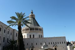 Kościół Annunciation, Nazareth, Izrael obraz royalty free