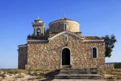 Kościół Ayios Ilias Protaras Zdjęcia Royalty Free
