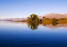 Kościół baca Dobry jezioro i, Mackenzie kraj, Canterbury, Nowa Zelandia Zdjęcia Royalty Free